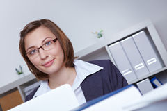 Business woman working in office Royalty Free Stock Images