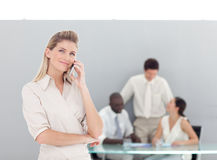 Business woman working in the office Stock Images