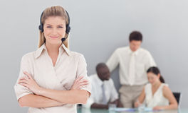 Business woman working in the office Royalty Free Stock Photos