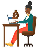 Business woman working in office Royalty Free Stock Photography