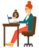 Business woman working in office Royalty Free Stock Photos