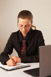 Business woman working (office, leadership, success, commitment) Royalty Free Stock Image