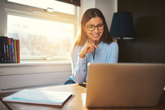 Business woman working at office Stock Photography