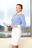 Business woman working in office Stock Image