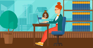 Business woman working in office. Royalty Free Stock Photos