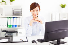 Business woman working in the office Stock Photography