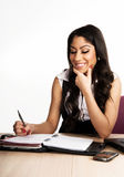 Business Woman Working On Her Calendar Royalty Free Stock Photography
