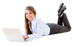 Business woman working online Royalty Free Stock Image