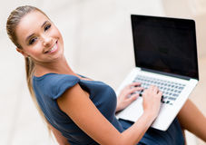 Business woman working online Royalty Free Stock Photos