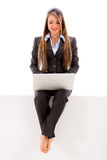 Business woman working online Royalty Free Stock Images