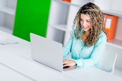 Business woman working online Stock Photography
