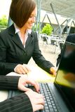 Business Woman Working Outdoor Stock Photos