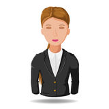 Business Woman  Working Symbol Cartoon Vector Royalty Free Stock Photo