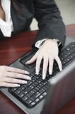 Business woman working with thw keyboard Stock Photos