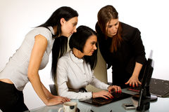 Business woman working together on screen 2 Stock Image