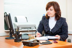 Business woman works Royalty Free Stock Images