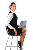 Business woman works on the laptop Stock Photography