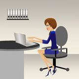 Business woman works in an office Stock Image