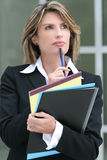 Business Woman Worried Shocked Royalty Free Stock Photo