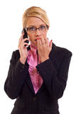 A business woman worries Stock Photography