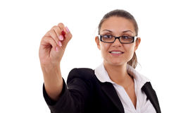 Business woman writing Royalty Free Stock Image