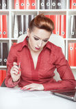 Business woman writing Royalty Free Stock Images