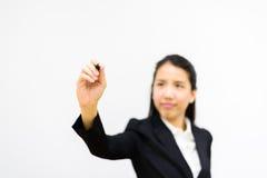 Business woman writing Royalty Free Stock Photo