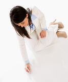 Business woman writing on the floor Stock Photos
