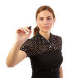 Business Woman Writing marker Royalty Free Stock Photography