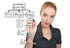 Business Woman Writing Plan Stock Photography