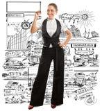 Business Woman Writing Something Stock Image