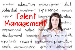 Business woman writing talent management concept.  Royalty Free Stock Image