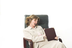 Business woman yawning Royalty Free Stock Image