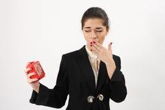 Business woman yawning Stock Photo
