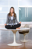 Business woman yoga Royalty Free Stock Photos