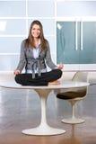 Business woman yoga Royalty Free Stock Photos