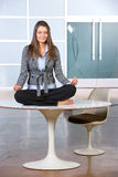 Business woman yoga Royalty Free Stock Image