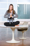 Business woman yoga Royalty Free Stock Photography