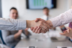 Business womans handshake Royalty Free Stock Image