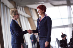 Business womans make deal and handshake Royalty Free Stock Photography