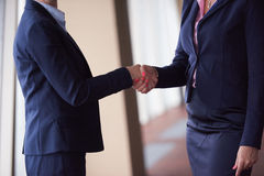 Business womans make deal and handshake Royalty Free Stock Photo