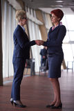 Business womans make deal and handshake Royalty Free Stock Images