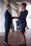 Business womans make deal and handshake Royalty Free Stock Photos