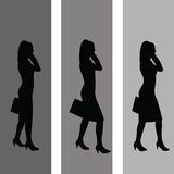 Business Women. Silhouettes of business women walking Royalty Free Stock Image