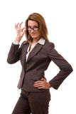 Business women. In glasses. Studio shot Stock Photo