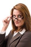 Business women. In glasses. Studio portrait Stock Photography