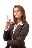 Business women. Looking at you. Studio shot Stock Photos