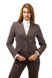 Business women. Looking at you. Studio shot Royalty Free Stock Photography
