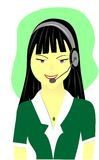 Business women. Young energetic asian business women attending to customer care royalty free illustration