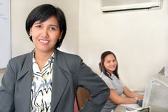 Business women. Photograph of business people at office stock photo
